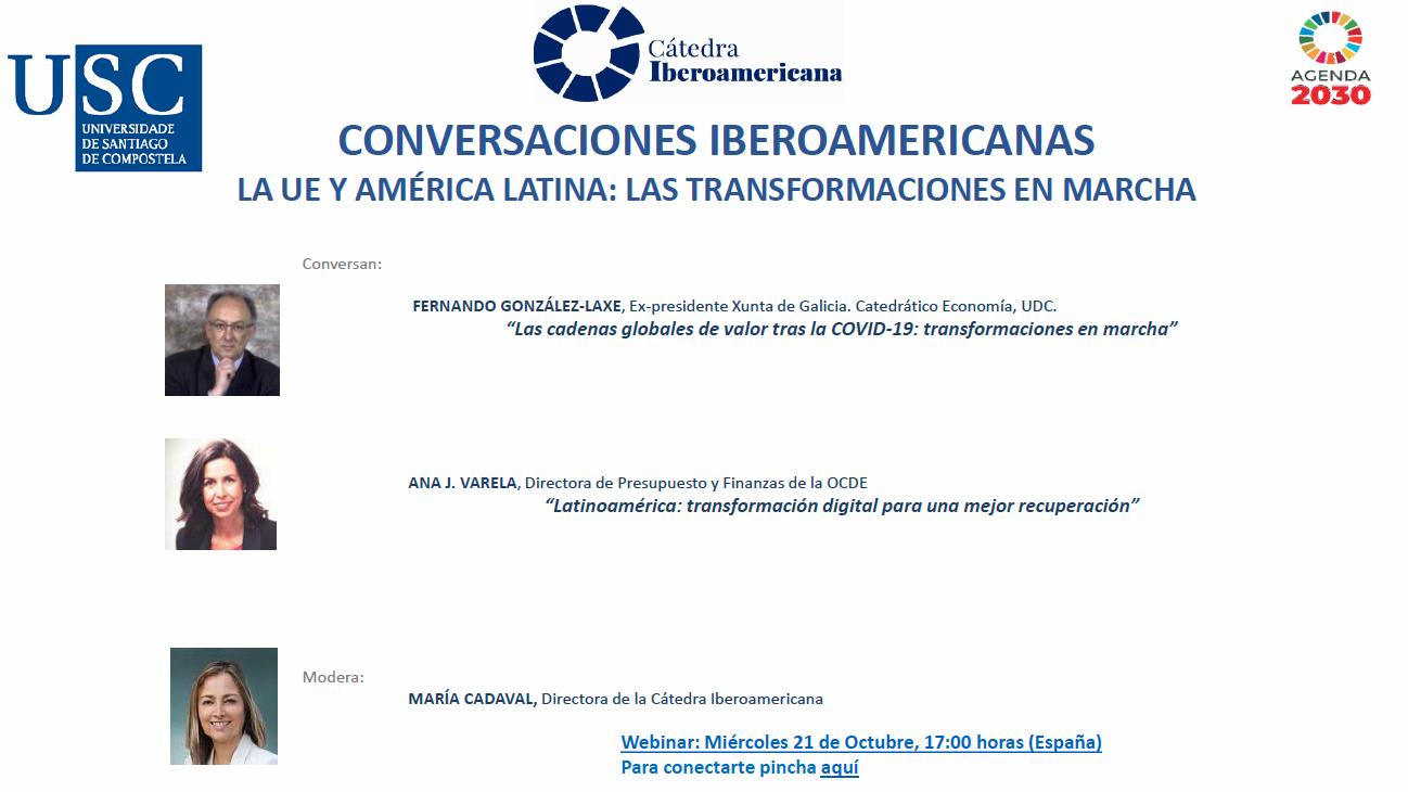 II Encuentro de las Conversaciones Iberoamericanas con la participación de D. Fernando González-Laxe y Dña. Ana Varela