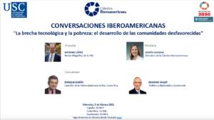 Lee más sobre el artículo VII Encuentro Conversaciones Iberoamericanas: La brecha tecnológica y la pobreza