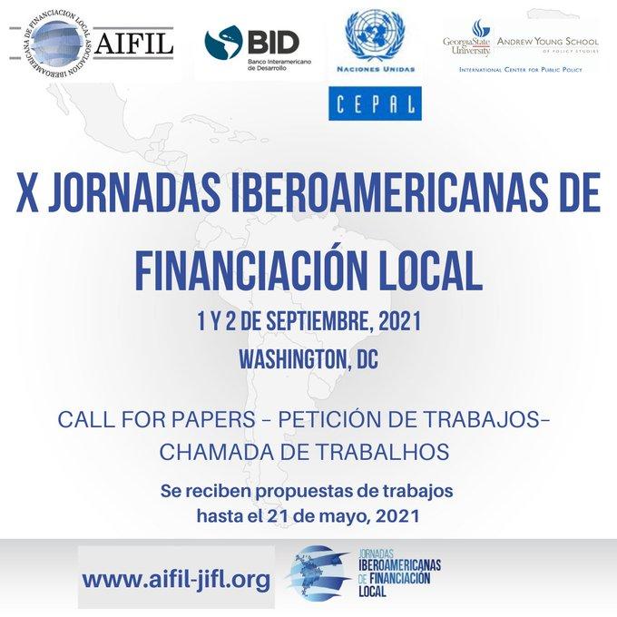 Call for Papers para las X Jornadas Iberoamericanas de Financiación Local