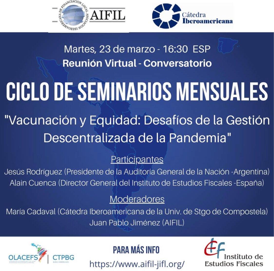 VIII Encuentro Conversaciones Iberamericanas en colaboración con AIFIL: Vacunación y Equidad